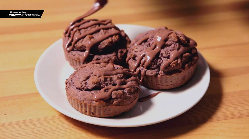 chocolate red bean muffinf cupcakes recipe dietary dish fit fitness bodybuilding whey 100 trec nutrition (3)